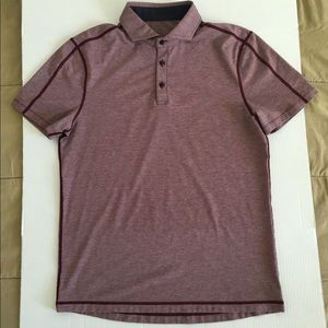 Lululemon Athletica Evolution Pink Red Gray Polo